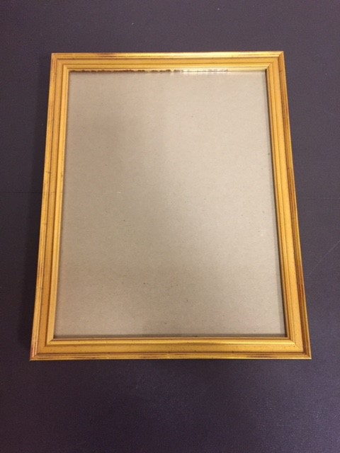 Hardwood Picture Frame 85 X 11 Gold Workquest